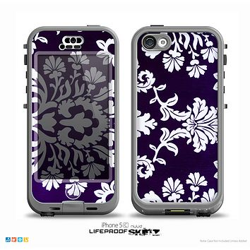 The Blue & White Delicate Pattern Skin for the iPhone 5c nüüd LifeProof Case
