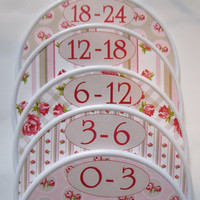 Baby Closet Dividers Closet Organizers 5 Baby Girl Clothes Dividers Baby Nursery Baby Shower Gift Baby Roses Chic Assembled For You