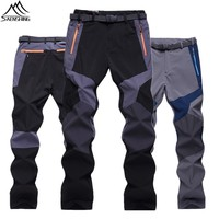 Plus Size 3XL Softshell Pants  Breathable Thermal Windproof Pant Outdoor Sport Camping Hiking Pants Trekking Outdoor Trousers