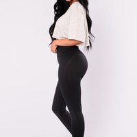 Shaper Seamless Compression Leggings - Black