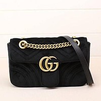 Perfect Gucci Women Fashion Leather Satchel Shoulder Bag Crossbody
