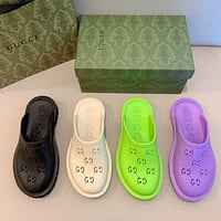 DIOR GG  pop-up raised hollow slippers