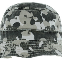 True Religion Jeans Men's Reversible Camo Bucket Hat Cap