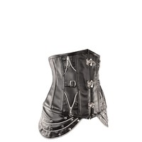 Black Underbust with Hip Panels and Zip Detail