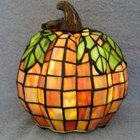 Stained Glass Pumpkin Lamp