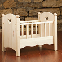 Wooden Doll Crib Toy