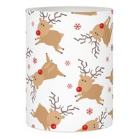 Cute Tiny Reindeer Holiday Pattern Flameless Candle