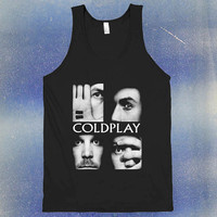 Coldplay Logo black tanktop for unisex by USA