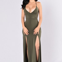 Dream of Me Dress - Olive