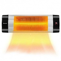 1500 W 3 Modes Adjustable Infrared Wall-Mounted Patio Heater with Remote Control