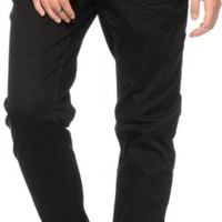 Almost Famous Black Twill Jogger Pants