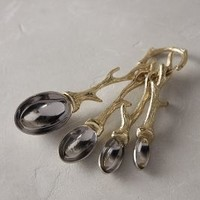 Twisted Twig Measuring Spoons by Anthropologie Bronze One Size House & Home