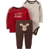 Child of Mine by Carter's Newborn Baby Boy Set 3 Pieces - Walmart.com