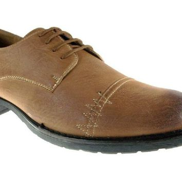 Mens Delli Aldo Distressed Lace Up Casual Oxfords Shoes 30137 Brown-163