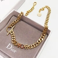DIOR Fashion Woman Men Simple Necklace Accessories Jewelry