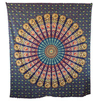 Handicrunch Hippie Mandala Indian Mandala Tapestry Hippie Hippy Wall Hanging Throw Bedspread Dorm Tapestry Decorative Wall Hanging, Large Table Runner Bed Cover Indian Art, Cotton Bohemian Tapestry, Hippie Tapestry