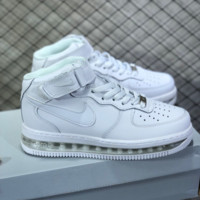 hcxx N801 Nike Air Force 1 AF1 Air Sole External cushion shock absorber High Leather Skate Shoes White