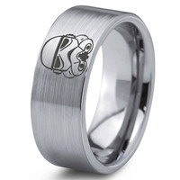Stormtrooper Inspired Tungsten Wedding Band Ring
