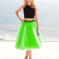 [89.99] Pretty Tulle Jewel Neckline Two Piece A-Line Homecoming Dresses With Beadings - dressilyme.com