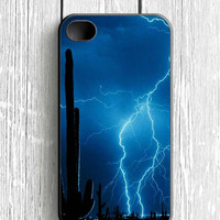 Lightning Cactus iPhone 4 Case