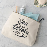 'You Look Lovely Today' Wash Bag