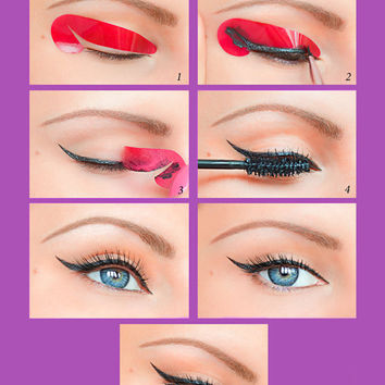 Quick Eyeliner Stickies Stencils Cosmetic Eye Makeup Tool  Free Shipping NEW