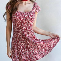 Casual Fashion Sweet Lingering Splash Print Dress