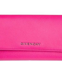 Givenchy women's wallet leather coin case holder purse card bifold pandora fucsi