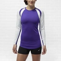 Nike Court Warrior Women's Long-Sleeve Volleyball Jersey - Team Purple