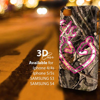 Love Browning Deer Camo (an) 3D iPhone Case for iPhone 4/4S, iPhone 5/5S and,Samsung Galaxy S3, S4