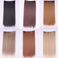 Sexy Hot Sale Hot Deal On Sale Beauty Ladies Clip Straight Hair Wigs Hair Extensions [6807669511]