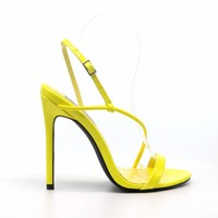 LAYLA Yellow Cross Strap Heels