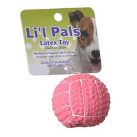 Lil Pals Latex Mini Volleyball for Dogs - Pink
