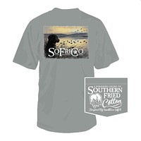 Sunrise in the Blind Tee in Chicken Wire by Southern Fried Cotton