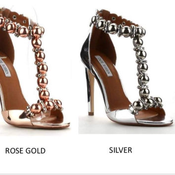 Trendy Rose Gold and Silver Shoe S1212