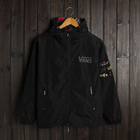 Men VANS Jacket Winter Fashion Stylish Alphabet Hats Double-layered Windbreaker [9398110215]