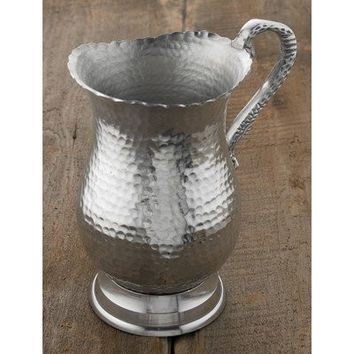 "9"" Hammered Aluminum Water Pitcher"