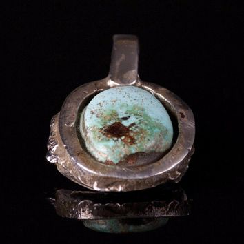 Small Turquoise & Sterling Silver Pendant