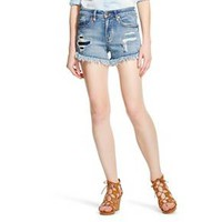Women's High Rise Jean Short M Wash with Fray Hem - Mossimo : Target