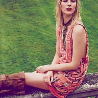 Free People Womens Love and Embellished Shift Dress