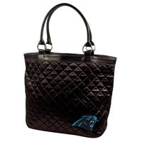 Carolina Panthers NFL Quilted Tote (Black)