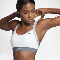 The Nike Indy Logo Back Women's Light Support Sports Bra.