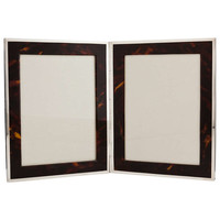 Rare Silver & Tortoiseshell Double Photo Frame Dated Chester 1923
