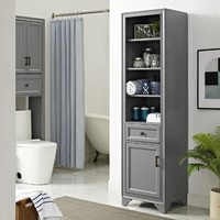 Gray Wood Oden Tall Cabinet