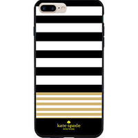 New For Valentine Kate Spade Pink Black Stripes Hard Case iPhone 6 6s 7 (Plus)