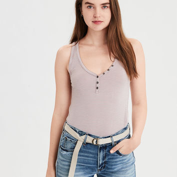 AE Soft & Sexy Henley Tank Top