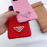Prada iPhone11promax mobile phone case p home half pack Apple 7/8plus protective cover x/xr