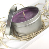 Soy Candle Tin - Black Currant Tea scented Soy Candle -- 8 ounce Tin