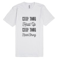Keep Your Head Up | Fitted T-shirt | SKREENED