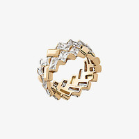 Gold-Tone Baguette Chevron Ring | Michael Kors